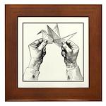 Origami Folding - Vintage Framed Tile