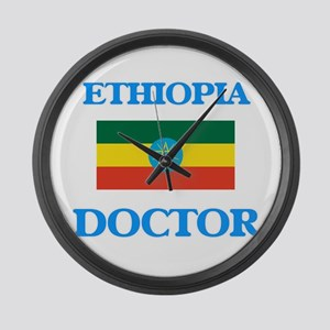 Ethiopia Doctor Large Wall Clock