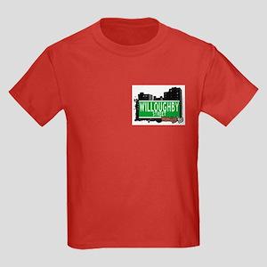 WILLOUGHBY STREET, BROOKLYN, NYC Kids Dark T-Shirt