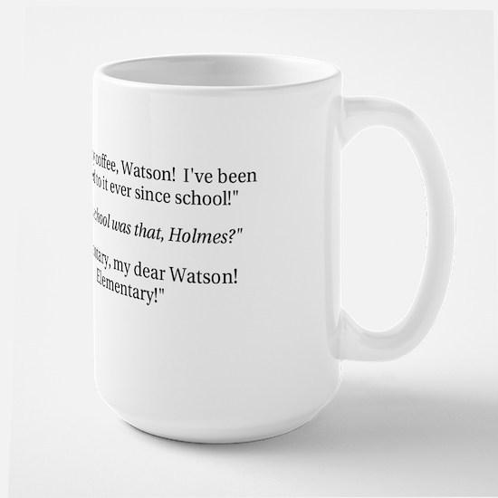Sherlock Holmes, coffee addict Large Mug