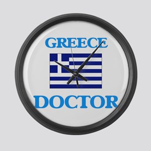Greece Doctor Large Wall Clock
