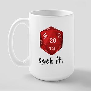 d20 Suck It Large Mug