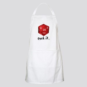 d20 Suck It BBQ Apron