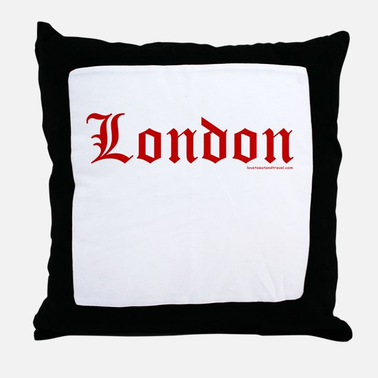 """London """"Old English Red"""" - Throw Pillow"""
