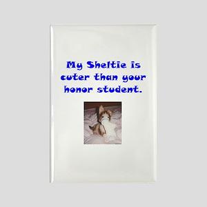 My Sheltie's Cuter 2 Rectangle Magnet
