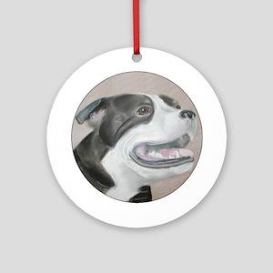 Staffordshire Bull Ornament (Round)