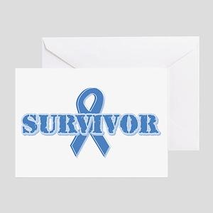 Light Blue Survivor Greeting Card