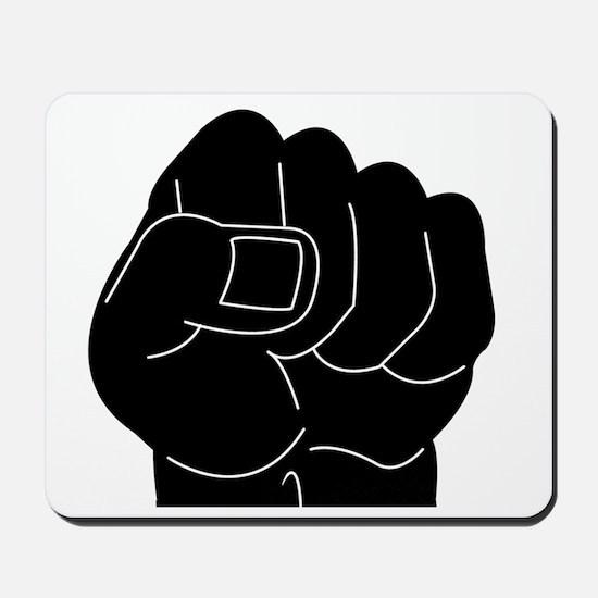 Black Power Fist Mousepad