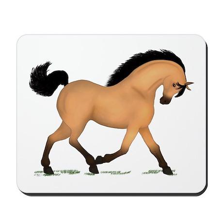 Trotting Buckskin Horse Mousepad