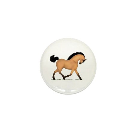 Trotting Buckskin Horse Mini Button (10 pack)