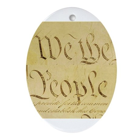 We the People II Oval Ornament
