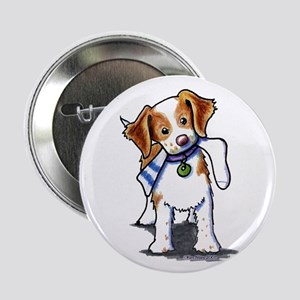 "Playful Brittany Spaniel 2.25"" Button"