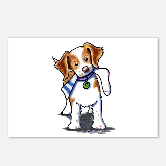 Playful Brittany Spaniel Postcards (Package of 8)
