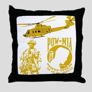 POW-MIA Gold Throw Pillow