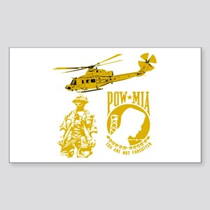 POW-MIA Gold Rectangle Sticker