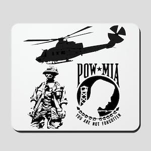 POW-MIA Black Mousepad