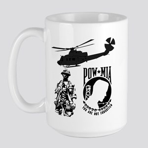 POW-MIA Black Large Mug