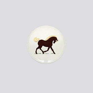 Rocky Mountain Horse Mini Button