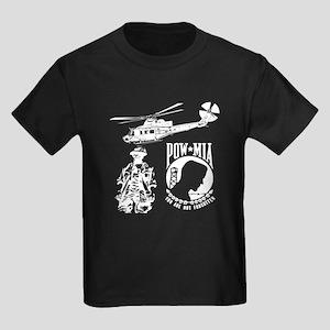 POW-MIA White Kids Dark T-Shirt