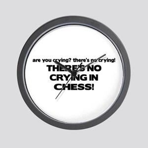 There's No Crying in Chess Wall Clock