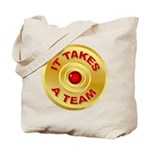 It Takes a Team - 5 Tote Bag