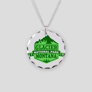 Glacier - Montana Necklace Circle Charm