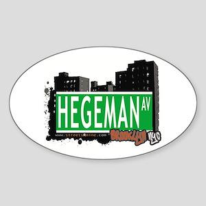 HEGEMAN AV, BROOKLYN, NYC Oval Sticker