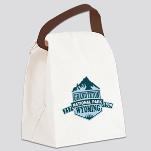 Grand Teton - Wyoming Canvas Lunch Bag