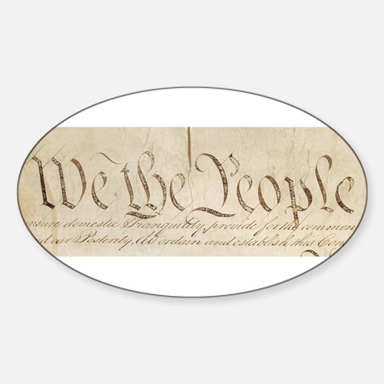 The Us Constitution Sticker (Oval)