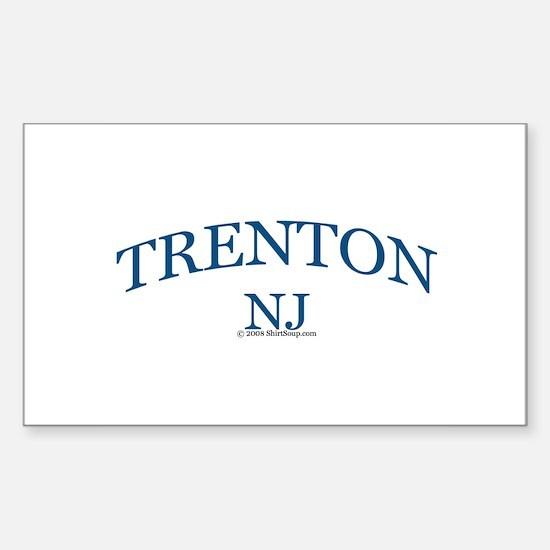 Trenton, NJ Rectangle Decal