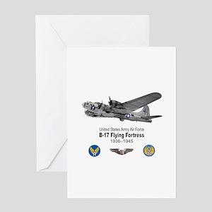 B-17 Flying Fortress T-shirts Greeting Card
