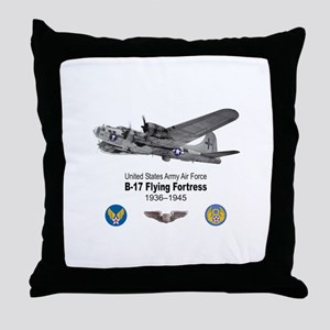 B-17 Flying Fortress T-shirts Throw Pillow