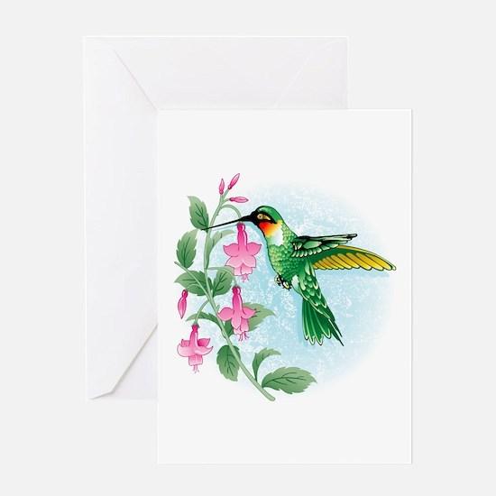 FUCIA HUMMINGBIRD Greeting Card