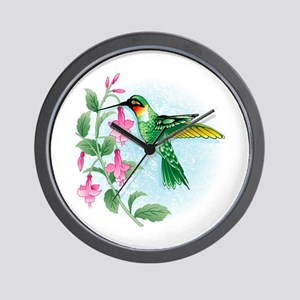 FUCIA HUMMINGBIRD Wall Clock