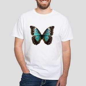 Amathonte Morpho Butterfly female White T-Shirt
