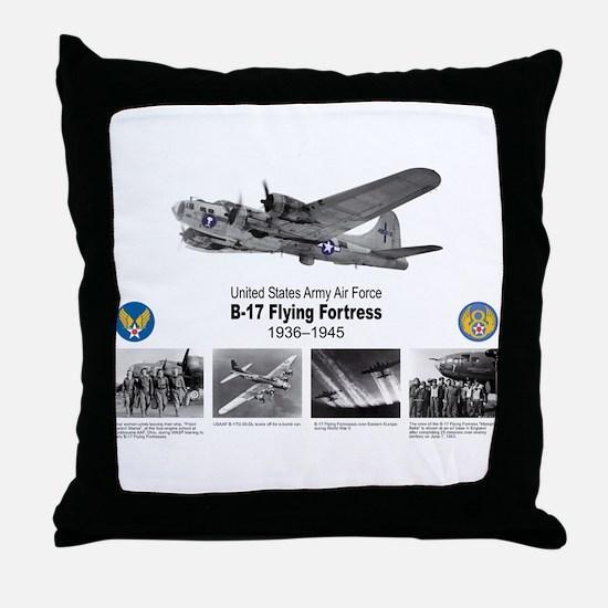 B-17 Commemorative Throw Pillow