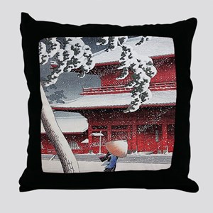 Vintage Japanese Painting Throw Pillow