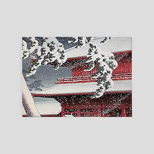 Vintage Japanese Painting 5'x7'Area Rug