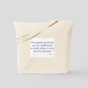 Good Men Evil Men Large Tote Bag