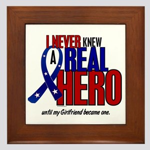 Never Knew A Hero 2 Military (Girlfriend) Framed T