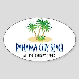 Panama City Beach Therapy - Oval Sticker