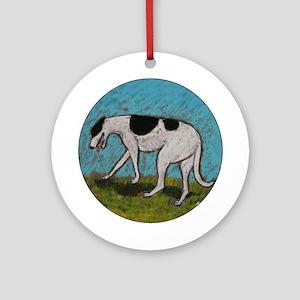 """No Direction"" a Greyhound Ornament (Round)"