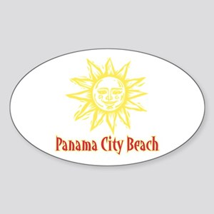 Panama City Beach Sun - Oval Sticker