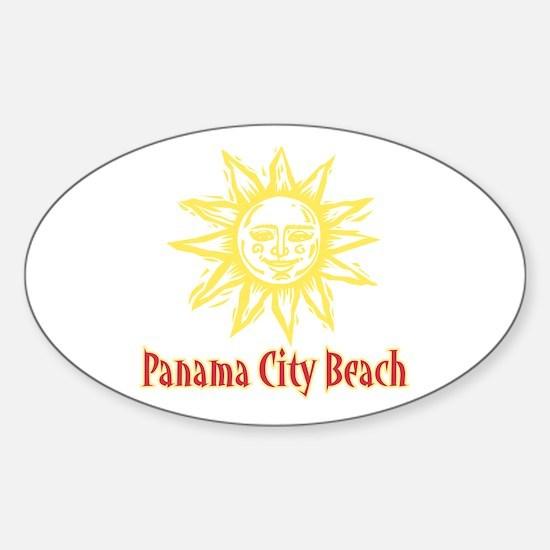Panama City Beach Sun - Oval Decal