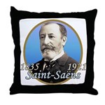 Camille Saint-Saens Throw Pillow