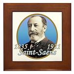 Camille Saint-Saens Framed Tile