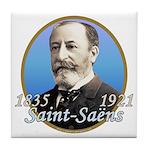 Camille Saint-Saens Tile Coaster