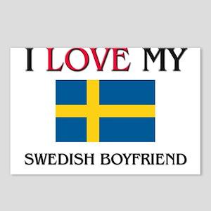 I Love My Swedish Boyfriend Postcards (Package of