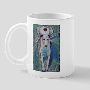 """Cheerful"" a Greyhound Mug"