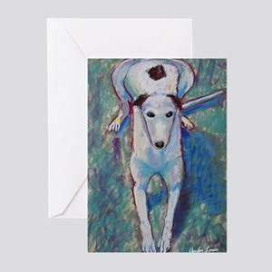 """Cheerful"" a Greyhound Greeting Cards (Package of"